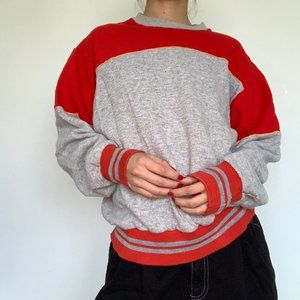 Vintage Colorblock Crew Neck Sweatshirt